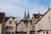 Chartres Cathedral Towering above the Town