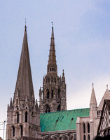 Chartres Cathedral Towers and Roof as seen from South